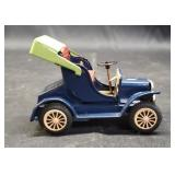 Beautiful vintage metal blue toy car