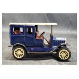 Beautiful vintage blue toy Car