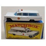 Vintage Matchbox Lesney Cadillac Ambulance in box
