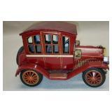 Vintage Red Metal Antiwue Style Car