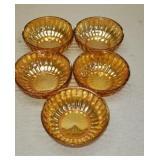 Lot of 5 beautiful carnival glass bowls