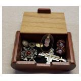 Nice Treasure Box with Jewelry & Misc.