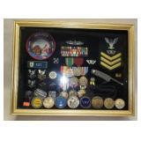 Military Award Box Shocase & Medals