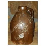 Vintage Signed Southern Pottery Moonshine Jug