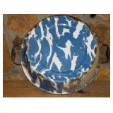 Awesome Porcelain Blue & White Splatterware Bowl