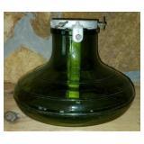Antique Green Glass Schweiz Bulach Tree Stand