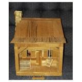 Beautiful wood handmade log cabin bird house