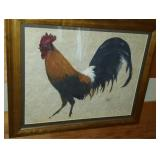 Beautiful framed art of a rooster