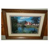 Beautiful framed print of a barn