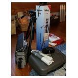 Estate lot of velbon camera equipment