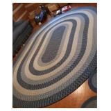 Very beautiful large oval area rug