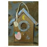 Wooden Hand painted Bird House