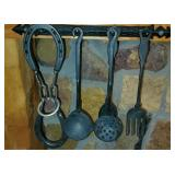Antique Cast Iron Metal Kitchen Utensils