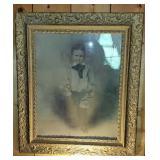 Antique Gold Gilded Framed Photo of a Boy