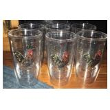 Set of 6 Tervis Rooster Tumblers