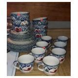 Beautiful set of Culinary Arts stoneware dishes