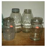 Lot of 4 atlas mason jars