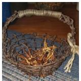 Very unique barbed wire basket