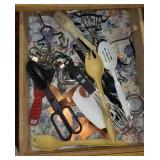 Estate drawer of kitchen spoons, utensil
