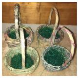 Lot of 4 beautiful easter baskets
