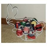 Beautiful metal Easter egg holder with decor eggs