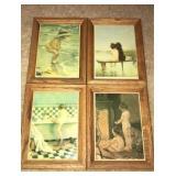 Wood framed tiles
