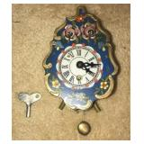 Gorgeous hand painted wall clock