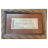 Framed 1905 Poll Tax Receipt Bullock County, AL.