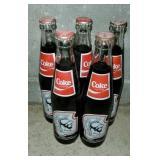 Lot of 5 Vintage Glass Coca Cola Bottles