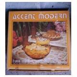 Vintage Accent Modern Honey Gold Chip & Dip Set