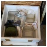 Styrofoam box with glass plant holders