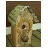 Vintage style wooden birdhouse