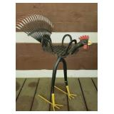 Handmade metal rooster pot holder