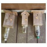 Estate lot of 3 homemade Carpenter bee traps