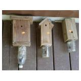 Lot of 3 outdoor bee traps