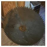 Huge industrial saw blade