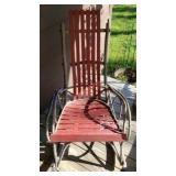 Beautiful amish style red rocking chair