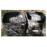 2 big cans full of coal