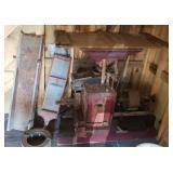 Antique belt driven grist mill #1
