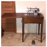 Sears Kenmore Sewing Machine table with pedal