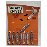 8 pc Sports 2 blade pocket knives