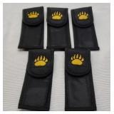 Set of 5 bear claw nylon sheaths