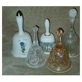 Lot of 5 Hollie Hobbie, Glass, Etc Collector Bells