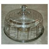 Clear Glass Cake Plate with Lid