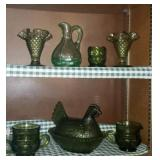 Estate lot of misc green home decor