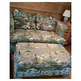 Country Theme Loveseat & Ottoman