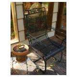 Metal Plant Stand Chair & Iron
