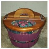 Beautiful wood picnic basket