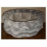 Small light blue dog bed