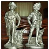 Pair of Hudson pewter figurines
